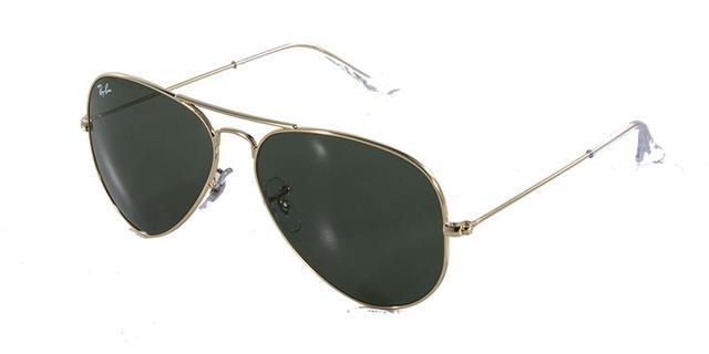e671b539624f3 Imagem de Óculos de Sol Ray Ban Aviador Clássico RB3025 Ouro Lente Verde