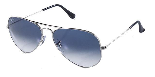 Imagem de Óculos de Sol Ray Ban Aviador Clássico RB3025 Prata Lente Azul  Degradê bf94d6f59e