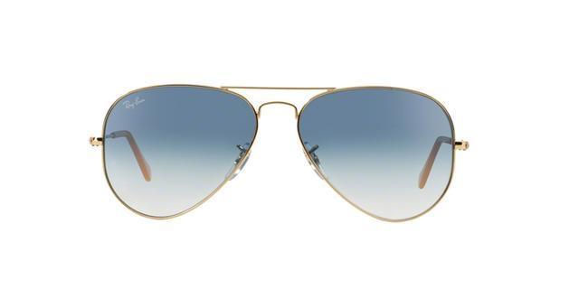 Imagem de Óculos de Sol Ray Ban Aviador Clássico RB3025L 0013F Ouro Lente  Azul Degradê Tam a553c747fa