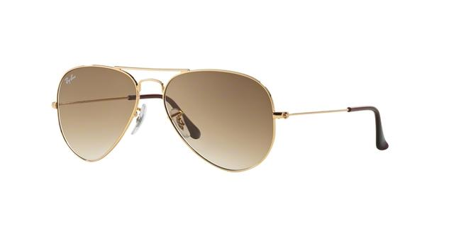 0bae120100ccd Imagem de Óculos de Sol Ray Ban Aviador Clássico RB3025L 00151 Ouro Lente  Marrom Degradê Tam