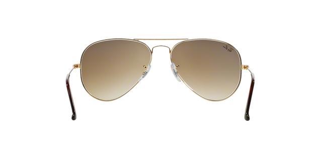 420fd05b3 Imagem de Óculos de Sol Ray Ban Aviador Clássico RB3025L 00151 Ouro Lente  Marrom Degradê Tam