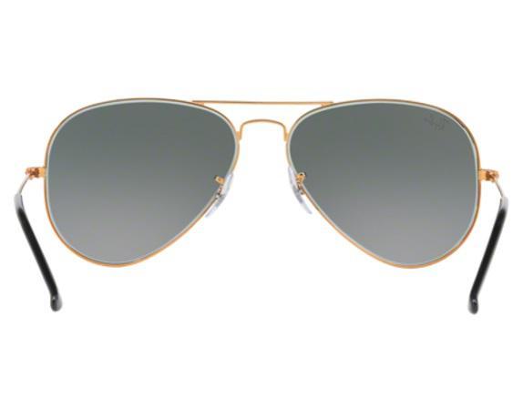 Imagem de Óculos de Sol Ray Ban Aviador RB3025 19771 Bronze Lente Cinza  Degradé Tam 58 ee20961879