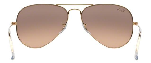 Imagem de Óculos de Sol Ray Ban Aviador Rb3025 Ouro Lente Marrom Rosa Tam 55 c64d8cfb2d