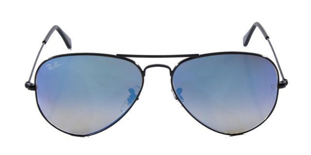 666c3d517 Imagem de Óculos de Sol Ray Ban Aviador RB3025 Preto Lente Azul Degradê  Espelhada Tam 58