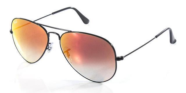 18e024c96b553 Imagem de Óculos de Sol Ray Ban Aviador RB3025 Preto Lente Vermelha Degradê  Espelhada