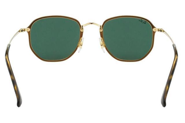 2d8cb54fe2435 Imagem de Óculos de Sol Ray Ban Blaze Hexagonal RB3579N 001 71 58 Dourado  com