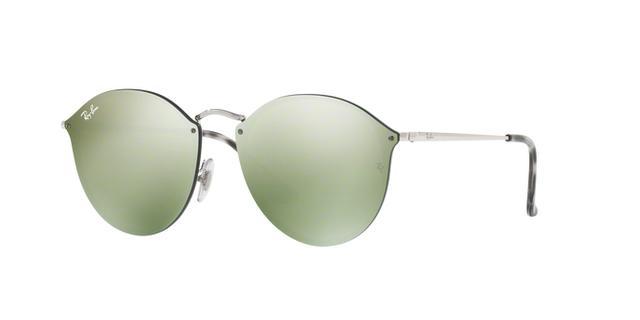 fef5c245e8c11 Imagem de Óculos De Sol Ray Ban Blaze Round RB3574N 00330 Prata Lente  Espelhada Verde Prata
