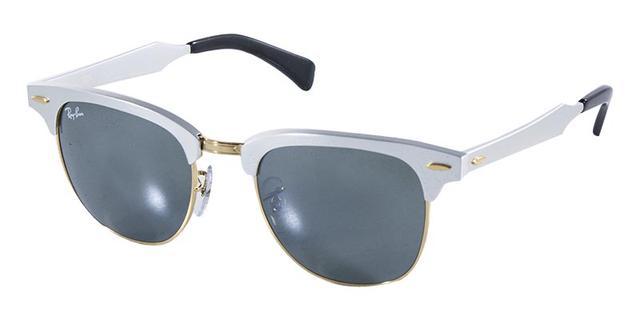 4eaa79db637d1 Óculos de Sol Ray Ban Clubmaster Aluminum RB3507 Prata Ouro - Ray ...