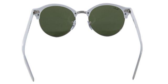 Imagem de Óculos de Sol Ray Ban CLUBROUND RB4246 Branco Lente Verde  Espelhada 94bc97a798