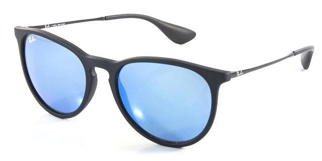 Óculos De Sol Ray Ban Erika RB4171 Preto Lente Azul Espelhada - Ray ... bcbc984b88