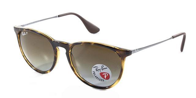 5920a46cc61ef Imagem de Óculos De Sol Ray Ban Erika RB4171 Tartaruga Lente Marrom  Polarizada