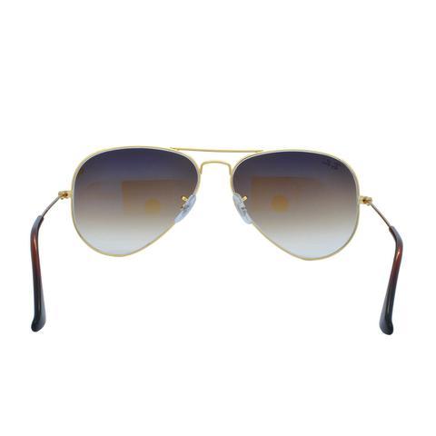 725b6cdb0952a Imagem de Óculos de Sol Ray Ban Feminino Aviador RB3025L C001 51 - Metal  Dourado