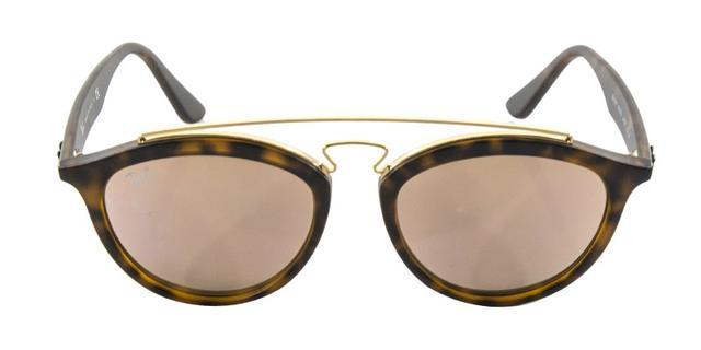 b394384de80b8 Óculos de Sol Ray Ban Gatsby Oval RB4257 Tartaruga Lente Rosa - Ray ...