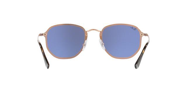 Imagem de Óculos De Sol Ray Ban Hexagonal Blaze RB3579 Cobre Lentes Violeta  Prata Espelhada 674f32dcfb
