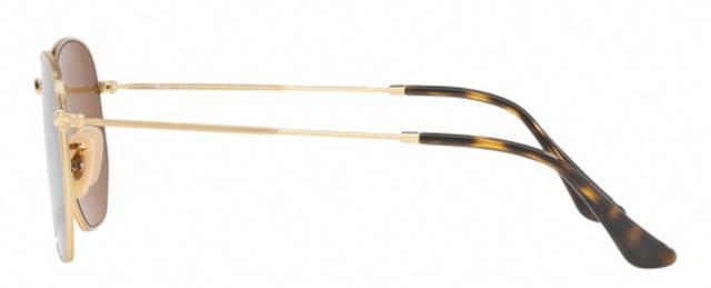 d0cacbe0dd178 Imagem de Óculos de Sol Ray Ban Hexagonal Metal RB3548 Ouro Lente Marrom  Flat Polarizada 54