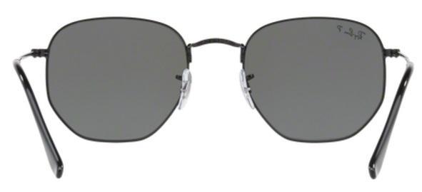 01b6c46f72af2 Imagem de Óculos de Sol Ray Ban Hexagonal Metal RB3548 Preto Lente Verde  Flat Polarizada 51
