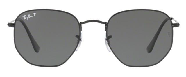 6c3c47626 Imagem de Óculos de Sol Ray Ban Hexagonal Metal RB3548 Preto Lente Verde  Flat Polarizada 51