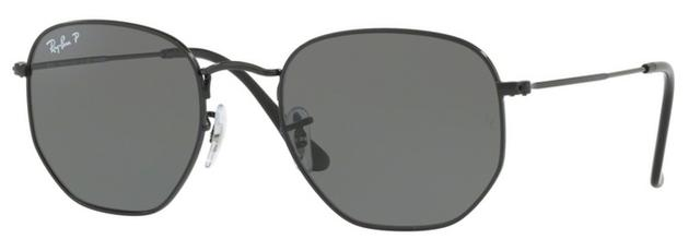 Imagem de Óculos de Sol Ray Ban Hexagonal Metal RB3548 Preto Lente Verde  Flat Polarizada 54 3cc59550ea