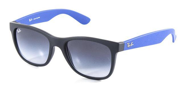 17f6d560417c9 Imagem de Óculos de Sol Ray Ban Highstreet Quadrado RB4219 Preto Fosco  Haste Azul