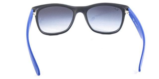 b6341b9a05c9b Imagem de Óculos de Sol Ray Ban Highstreet Quadrado RB4219 Preto Fosco  Haste Azul. Carregando.