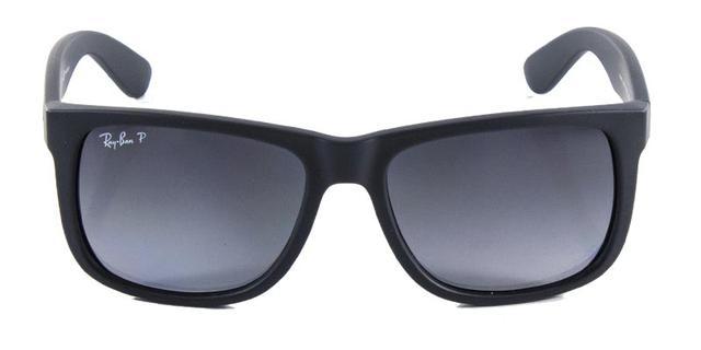 bd3ddd8ada4cf Imagem de Óculos de Sol Ray Ban Justin RB4165 Preto Fosco Lentes  Polarizadas Tam 54. Carregando.