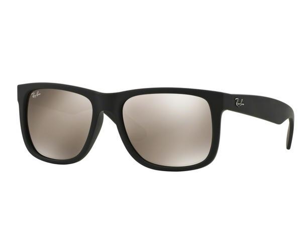 2217fa0790f1f Óculos de Sol Ray Ban Justin RB4165 Preto Lente Marrom - Ray-ban ...
