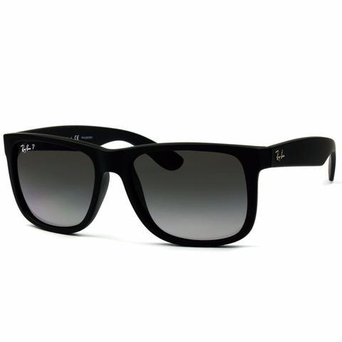 Imagem de Óculos De Sol Ray Ban Justin Rb4165L 622 T3 55 Polarizado Preto Original