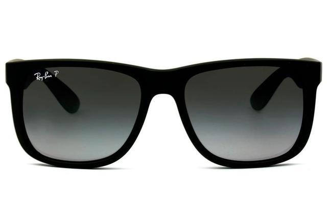 60b8ed1d3aeaa Imagem de Óculos de Sol Ray Ban Justin RB4165L 622 T3 55 Preto Emborrachado