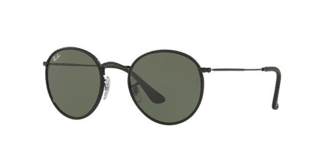 d56dade9c14aa Imagem de Óculos de Sol Ray Ban Round Craft RB3475Q 9040 Preto Couro Lente  Verde Tam