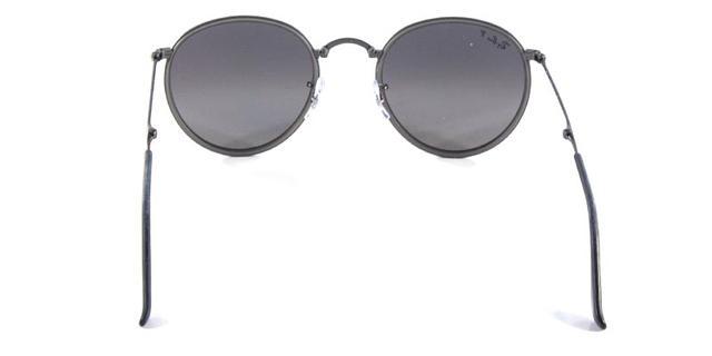 719818049e054 Óculos de Sol Ray Ban Round Folding RB3517 Grafite Polarizado - Ray ...