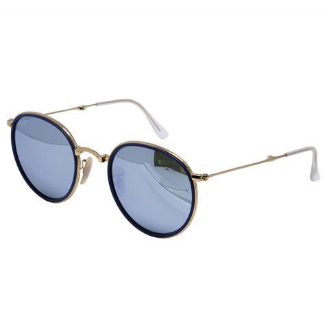 581f93e06 Imagem de Óculos de Sol Ray Ban Round Gold Dobrável RB3517 - Metal Dourado,  Lente