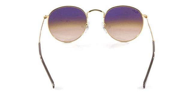 e2f7e3e28a494 Imagem de Óculos de Sol Ray Ban Round Metal RB3447 Ouro Lente Marrom  Degradê Lentes 53