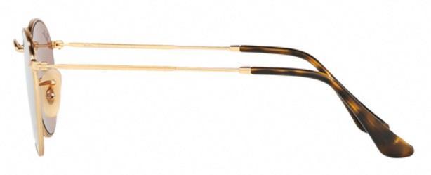 bc452e4e92 Imagem de Óculos de Sol Ray Ban Round Metal RB3447 Ouro Lente Rosa  Espelhada Flat Lente