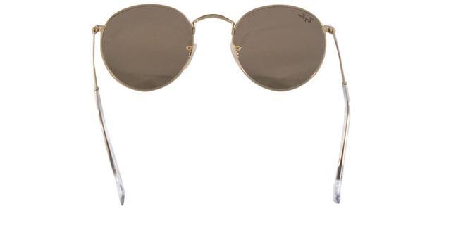 e0e897d8c4 Imagem de Óculos de Sol Ray Ban Round Metal RB3447 Ouro Lente Rosa  Espelhada Tam 50