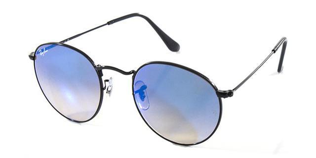 Imagem de Óculos de Sol Ray Ban Round Metal RB3447 Preto Lente Azul  Espelhada. Carregando. c8251eae1b