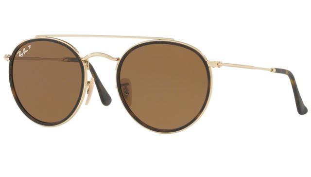 Imagem de Óculos de Sol Ray Ban Round RB3647N 00157 Ouro Lente Polarizada  Tam 51 472b035dd1
