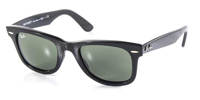 93649d00240 Imagem de Óculos de Sol Ray Ban Wayfarer Clássico Original RB2140 Preto  Polido Lente Tam 50