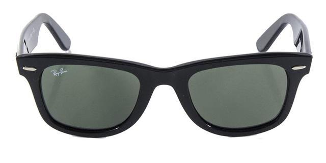 1ce1b675b Imagem de Óculos de Sol Ray Ban Wayfarer Clássico Original RB2140 Preto  Polido Lente Tam 50