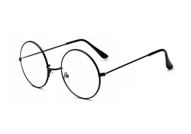 Imagem de Óculos Estilo Harry Potter Com Lente Sem Grau Armação Redonda Preto - Ref: YDH-1008
