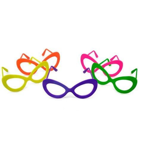 39fa1592615db Óculos Gatão Colorido Sem Lente 10 unidades - Festabox - Óculos de ...