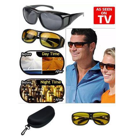 Imagem de Óculos Night Drive Para Dirigir À Noite Sobrepõe Óculos De Grau Lente Amarela serve para computador e smartphones