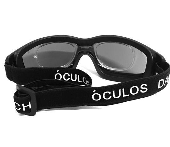 897a99f6ebb4c Imagem de Óculos proteção esportivo danny fume clipe interno p lentes de grau  ideal ciclismo futebol