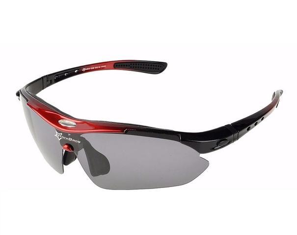 Imagem de Óculos Sol Bike Bicicleta Ciclismo Rockbros Polarizado 5 Lentes (apenas 1 é polarizado) Vermelho