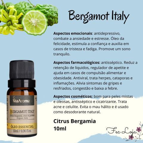 Imagem de Óleo Essencial Natural Bergamot Italy Via Aroma - Bergamota 10ml