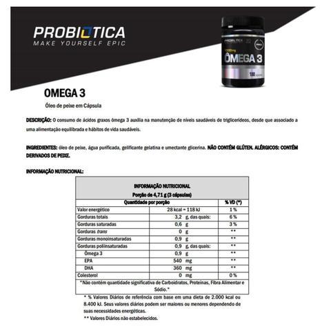 Imagem de Ômega 3 100 Cáps - Probiótica