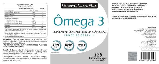 Imagem de Ômega 3 EPA 720 / DHA 480 + VIT (E)  Dr Lair Ribeiro 120 Cápsulas  Melhor Marca 1000 mg   KIT para 8 Meses