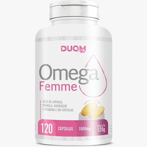 Imagem de Omega Femme - Óleo de Prímula, Borragem, Linhaça e Vitamina E 120 Cápsulas - Duom