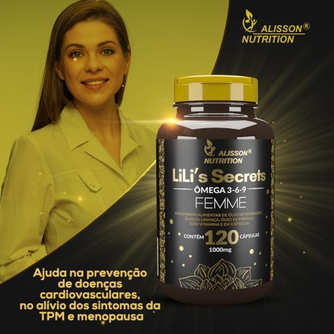 Imagem de Omega Mulher 3 6 9 Femme Linhaça Borragem Primula Vitamina E 120cápsulas