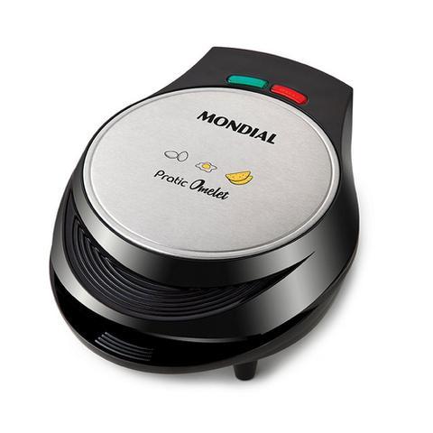 Imagem de Omeleteira Eletrica Mondial Pratic Omelet - OM-01 Preto e Inox