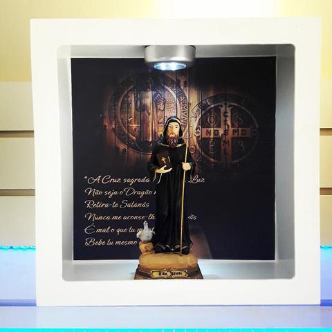 Imagem de Oratorio para imagem de santo são bento mdf com luz led